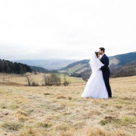 Fun + Romantic wedding session in the Mountains.